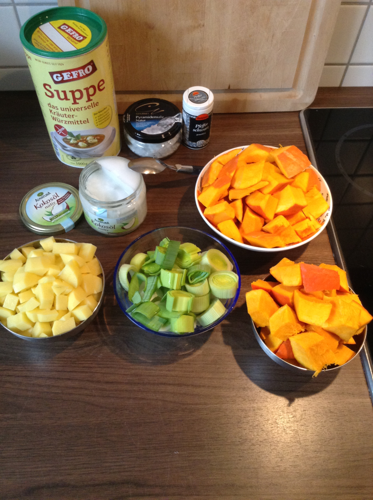 Gemüse geschnitten