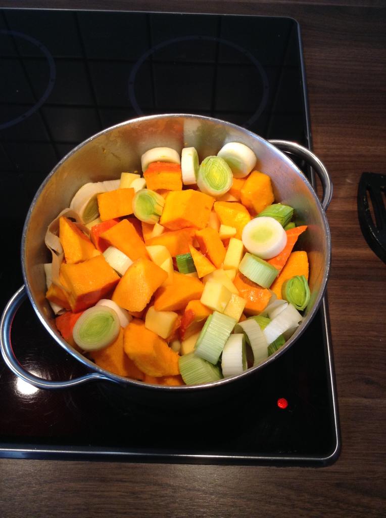 Gemüse anbraten/dünsten