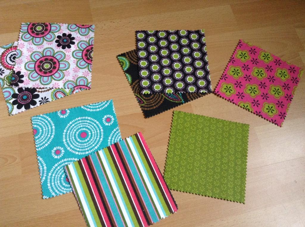 DIY Patchwork Tischläufer - Charm Pack sortiert nach Farben