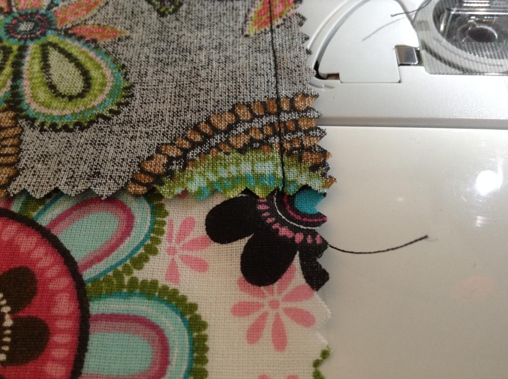 DIY Patchwork Tischläufer - Bis zum Ende durchnähen