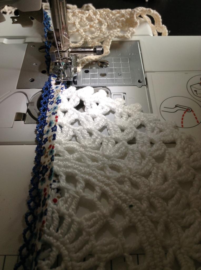 Nächstes Deckchen einlegen
