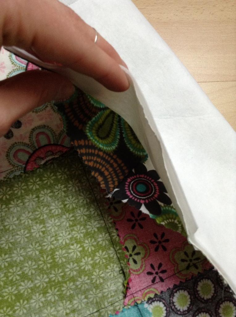 DIY Patchwork Tischläufer - bitte wenden