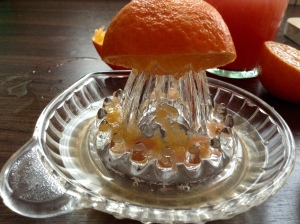 DIY Vitaminbombe - Mandarine auspressen