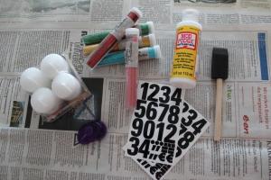 Silvester Glitzer Kerzen DIY - Material