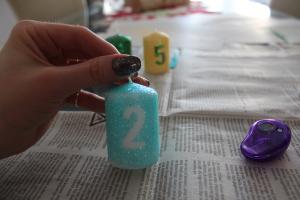 Silvester Glitzer Kerzen DIY - Kerze fertig