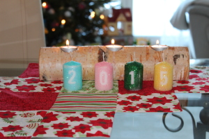 Silvester Glitzer Kerzen DIY