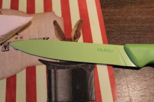 Marshmallow-Raketen DIY - geöltes Messer
