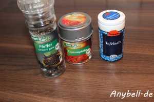 Paprika-Mais-Suppe Vegan - Zum würzen
