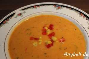 Paprika-Mais-Suppe Vegan
