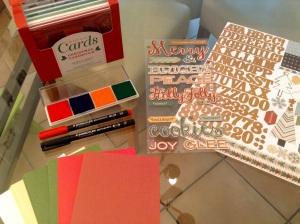 DIY Weihnachtskarten - Material