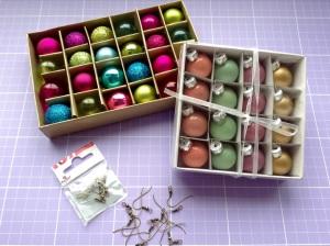 DIY Weihnachtsohrringe - Material