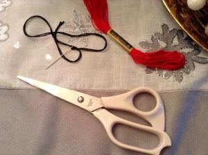 DIY Textil Weihnachtsbäumchen - Schere, Nadel und Garn