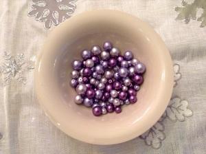 DIY Textil Weihnachtsbäumchen - Perlen