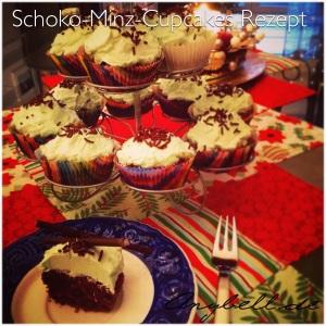 Schoko-Minz-Cupcakes