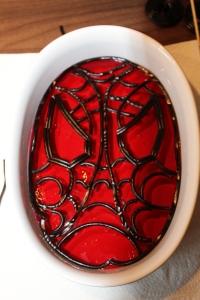 Spiderman Götterspeise / Wackelpudding rot Himbeer