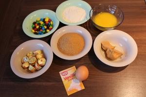 Zutaten M&M´s Erdnussbutter Kuchen