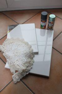 DIY Leinwände besprühen - Material