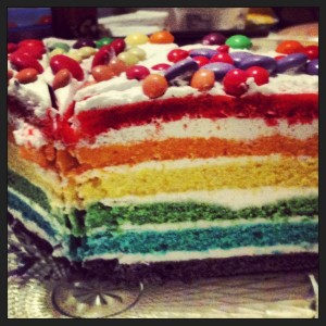 Regenbogentorte Regenbogenkuchen