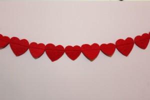 DIY Herz-Girlande - fertige Girlande!