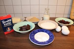 Brownies mit ErdnusscremeBrownies mit Erdnusscreme - Zutaten