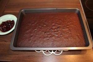 Brownies mit Erdnusscreme - fertig gebacken