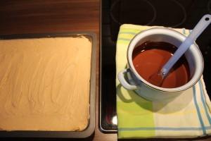 Brownies mit Erdnusscreme - vorher...