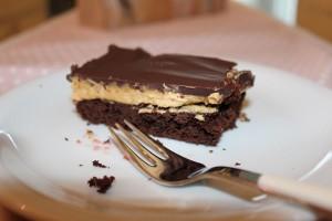 Brownies mit Erdnusscreme - Fertig!